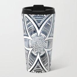 wholeness white mandala on sky Travel Mug