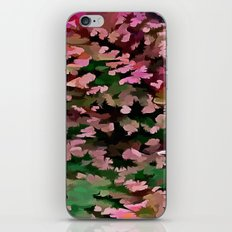 Foliage Abstract In Pink, Peach and Green iPhone & iPod Skin
