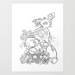 Buried Treasure - ink Art Print