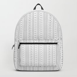 White and gray boho pattern Backpack