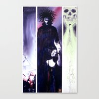 sandman Canvas Prints featuring Sandman: Triptych by kenmeyerjr