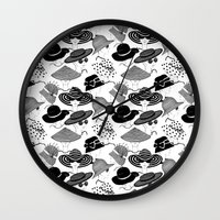 hats Wall Clocks featuring Hats, Hats, Hats!! by Lina Che