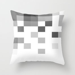 Gray Scale In Pixels Throw Pillow