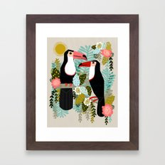 Toucans by Andrea Lauren  Framed Art Print