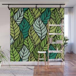 Flowing Leaves Wall Mural