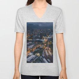 Night City View Unisex V-Neck