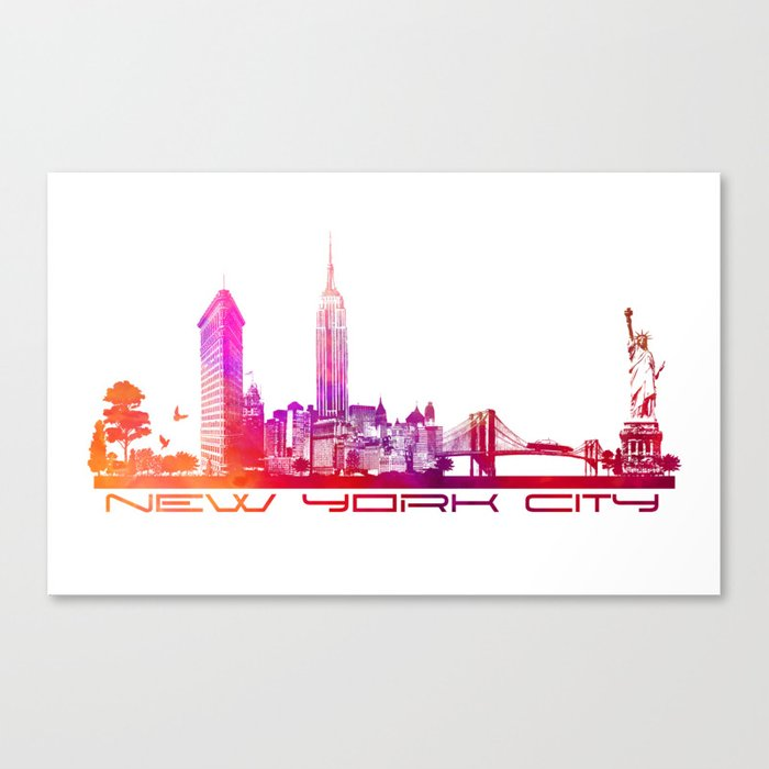 NYC purple Canvas Print