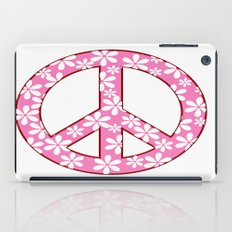 Peace Sign With Flowers In Pink iPad Case