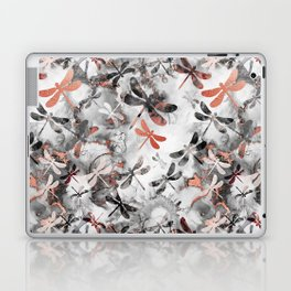 Dragonfly Lullaby in Marble and Rose Gold Laptop & iPad Skin