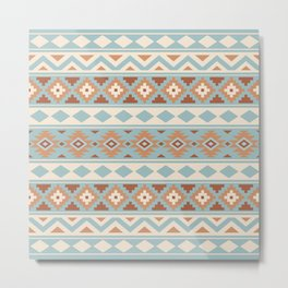 Aztec Essence Ptn IIIb Blue Crm Terracottas Metal Print