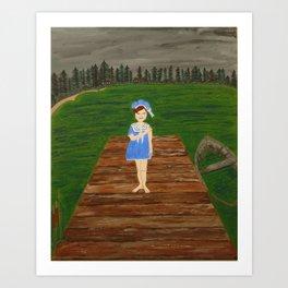 Melancholy at the Lake Art Print