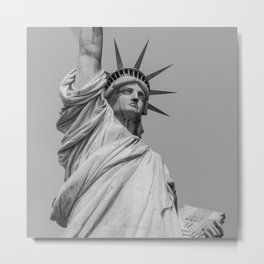 Statue of Liberty - Black and white Ilford based photograph Metal Print
