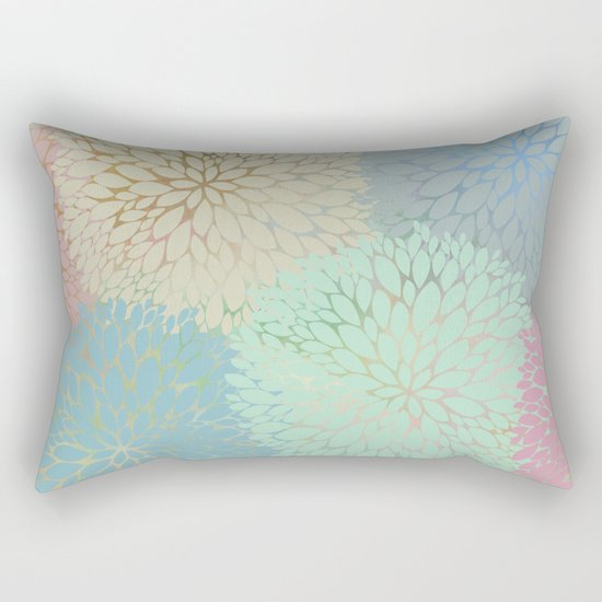 Abstract Floral Petals Rectangular Pillow