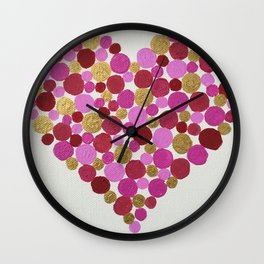 Love is Dotty Wall Clock