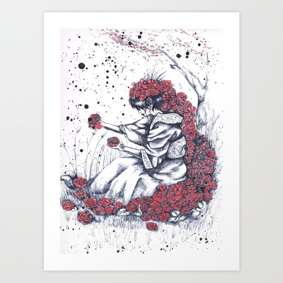 The color of the flowers Art Print