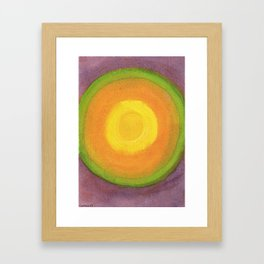 Sun above purple Sky Framed Art Print
