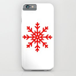 Red Snowflake, Christmas and Holiday Fantasy Collection iPhone Case