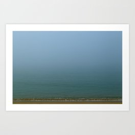 Misty Ocean Art Print