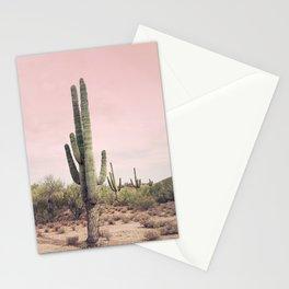 Blush Sky Cactus Stationery Cards