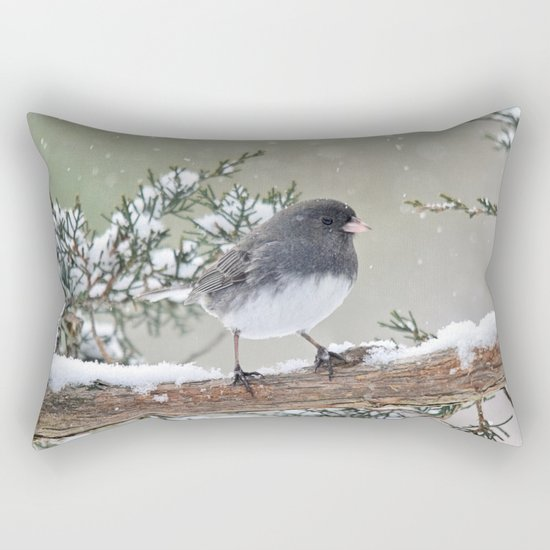 A Small Bird's Strength Rectangular Pillow