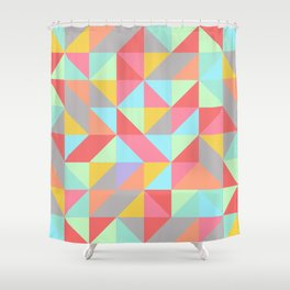 Quilt Triangles Shower Curtain