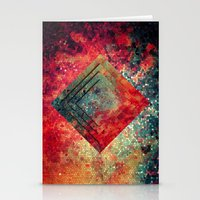 square Stationery Cards featuring Random Square by Esco