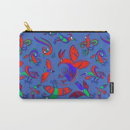 Pattern with Firebirds (on blue background) Carry-All Pouch