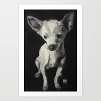 chihuahua Art Prints featuring Chihuahua dog  by Sara.pdf