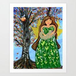 Grateful Heart Proverb Art Print