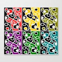 maori Canvas Prints featuring Maori Kowhaiwhai Pattern by mailboxdisco