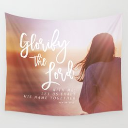 Psalm 34:4 Wall Tapestry