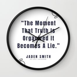 2   |  Jaden Smith Quotes | 190904 Wall Clock