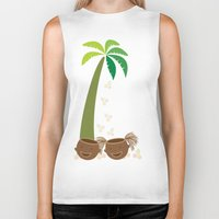 coconut wishes Biker Tanks featuring Coconut Twins by HK Chik