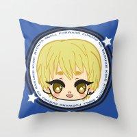 kuroko Throw Pillows featuring Kise  by Ichigo Kuriimu