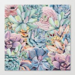 Succulent Rock Garden Canvas Print