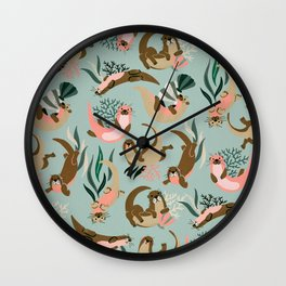 Otter Collection - Mint Palette Wall Clock