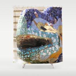Gaudi's Lizard Shower Curtain