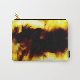 Hole In My Heart Black White Yellow Abstract Carry-All Pouch