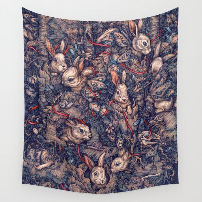 Bunnerflies Wall Tapestry