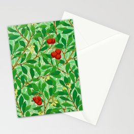 William Morris Lychee Tree Pattern, Light Jade Green Stationery Cards