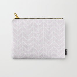 Winter 2018 Color: Pink Cream in Chevron Carry-All Pouch