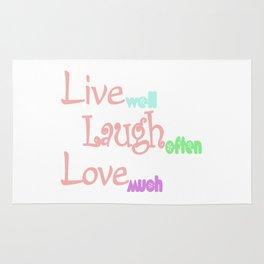 Live - Laugh - Love Rug