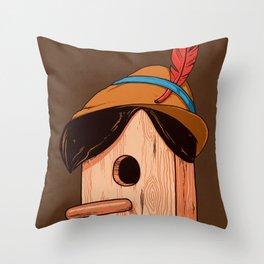Woodpecker´s house Throw Pillow