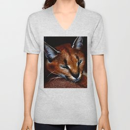 Karakul wildcat Unisex V-Neck