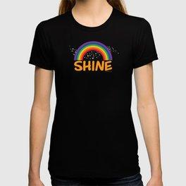 SHINE in orange T-shirt