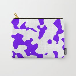 Large Spots - White and Indigo Violet Carry-All Pouch