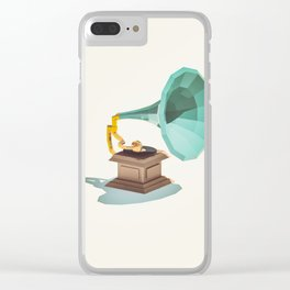 Lo-Fi goes 3D - Vintage Phonograph Clear iPhone Case