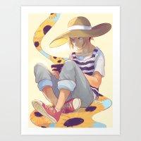viria Art Prints featuring kenma by viria