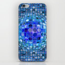 Optical Illusion Sphere - Blue iPhone Skin