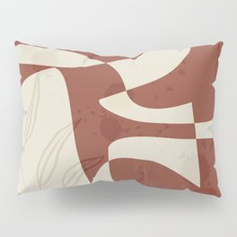 Abstract - Vase Shapes in Red Earth Pillow Sham